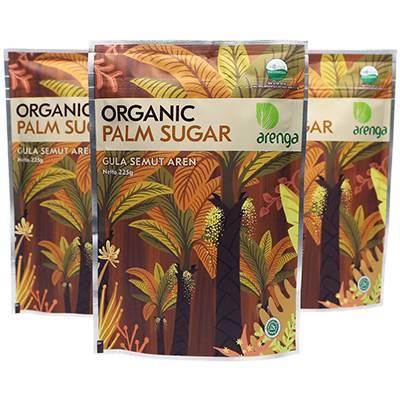 Jual gula semut aren kemasan 225 gram
