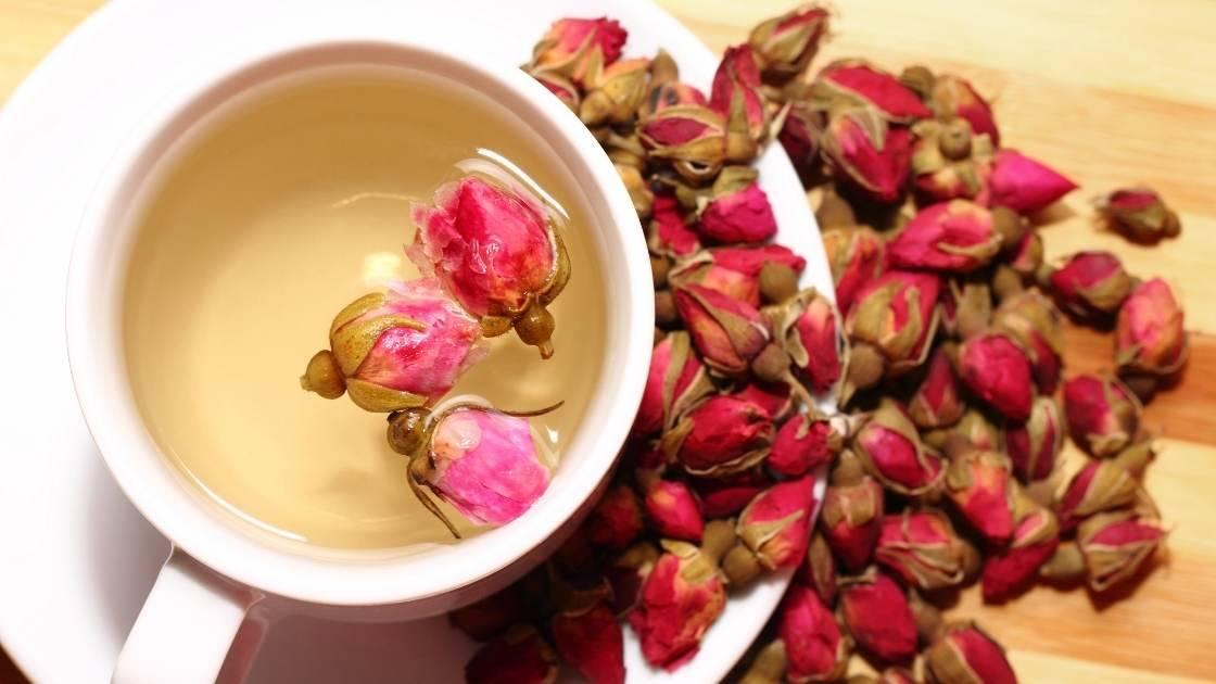 Cara membuat teh mawar
